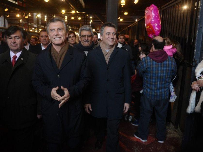 Visita relámpago de Macri a la Exposición Rural